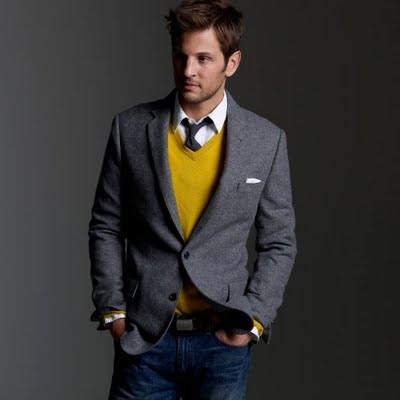 jcrew grey tweed sportcoat How to wear tailoring without a suit