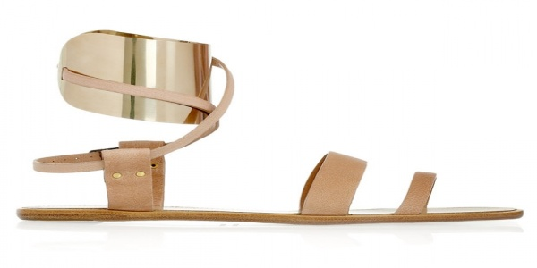 Lanvin metal-cuffed sandal: daily discovery